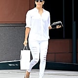 Eva Longoria Just Wore the Monochrome Outfit of the Summer —and You Already Own It