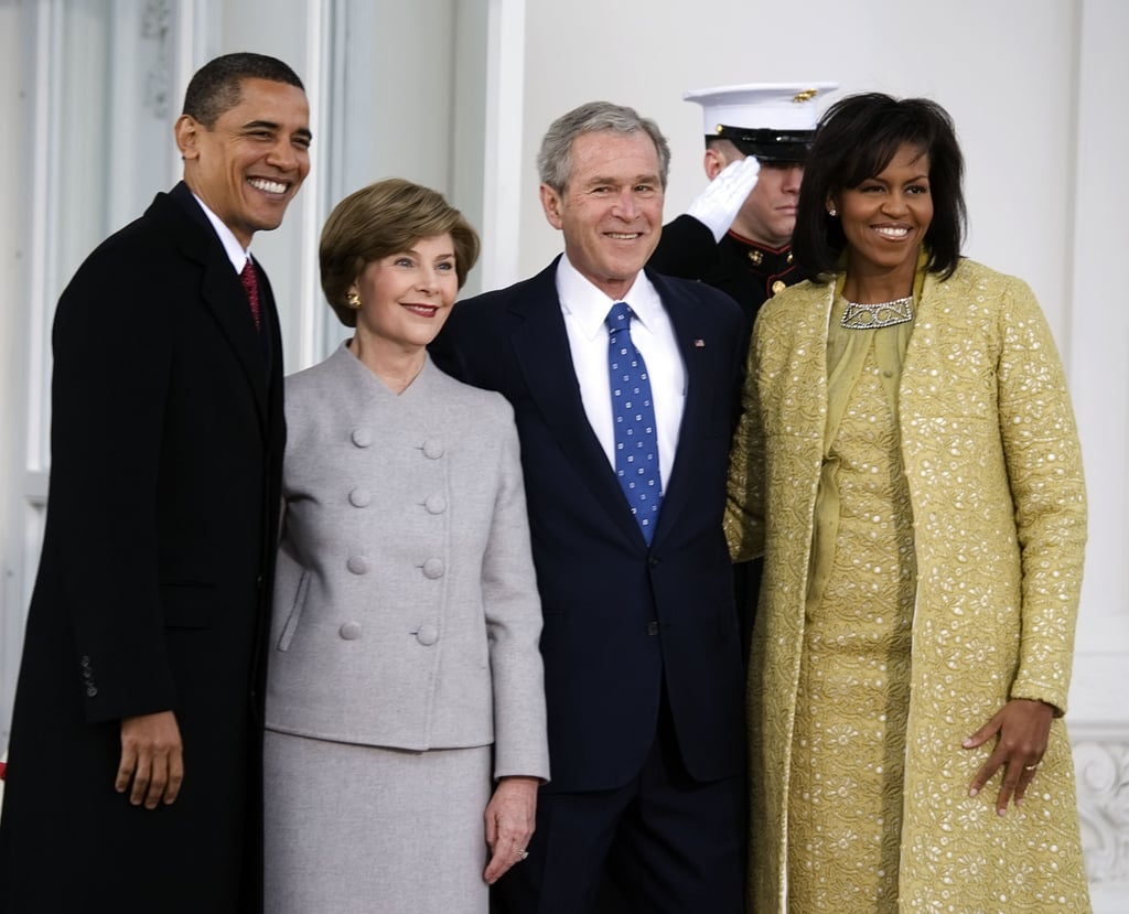 "President Bush on his favorite thing about Mrs. Obama: ""She kind of likes my sense of humor. Anybody who likes my sense of humor, I immediately like."" On the seating arrangements that started it all: ""I can't remember where else I've sat next to her, but I probably have a few wisecracks and she seemed to like it OK."""
