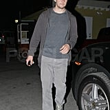 Vincent Piazza leaving Eric Johnson's birthday party.