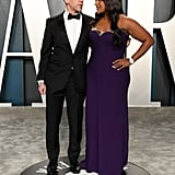 Mindy Kaling and B. J. Novak at the Vanity Fair Oscars Afterparty 2020