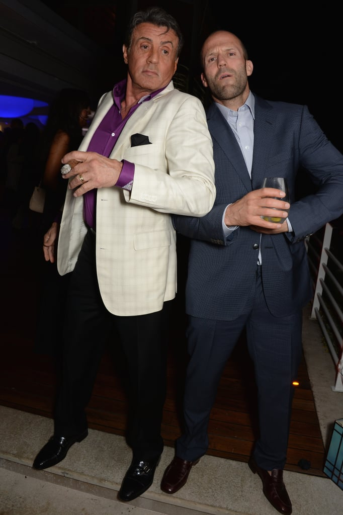 Sylvester Stallone and Jason Statham perfected their poses.