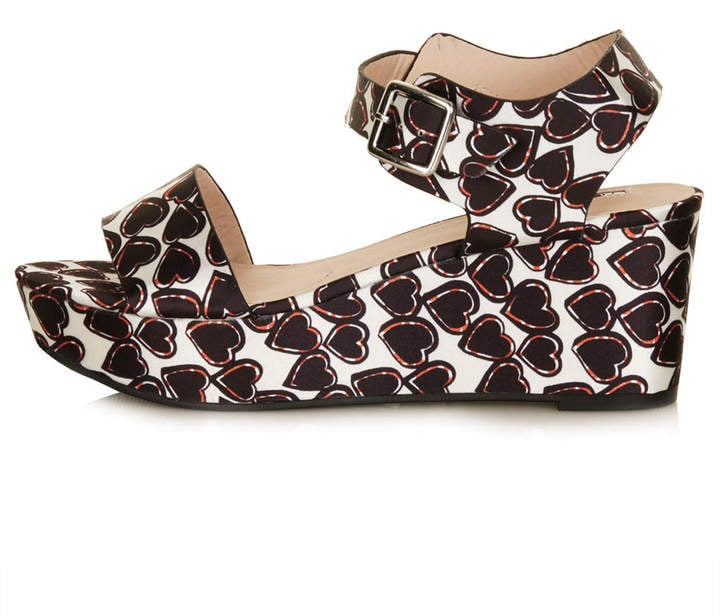 Topshop Printed Wedges