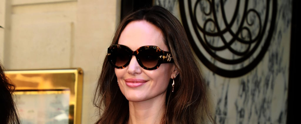 Angelina Jolie Dark Brown Hair Summer