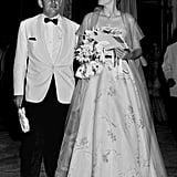 Princess Grace and Prince Albert of Monaco attend the Red Cross Gala Ball in 1958.