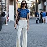 With Cream Jersey Trousers