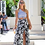 With a Split Maxi Skirt