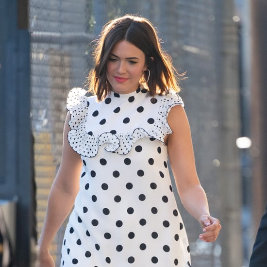 Mandy Moore's Polka-Dot Dress on Jimmy Kimmel