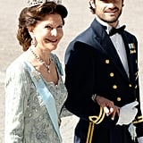 He escorted Queen Silvia at the wedding of his sister Princess Madeleine and Christopher O'Neill in June 2013.