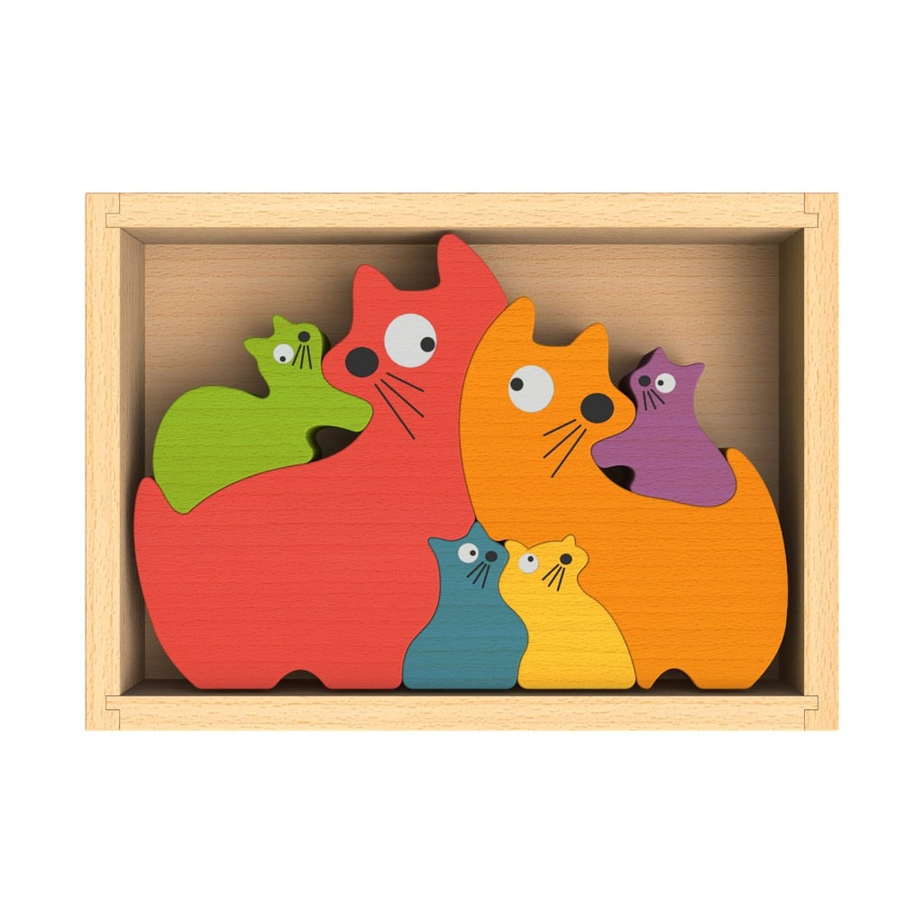 BeginAgain Cat Family Puzzle ($13)