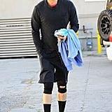 Josh Duhamel fit in a workout in LA on Saturday.