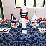 """Ahoy!"" A Nautical Dessert Table"
