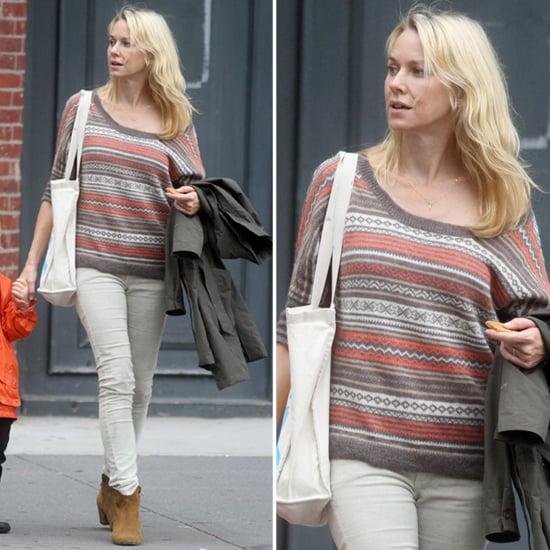 Naomi Watts Wearing Fair Isle Sweater | POPSUGAR Fashion
