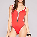 Kendall & Kylie Contrasting One-Piece Swimsuit