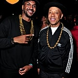 Russell Simmons and a Friend as Run–D.M.C.