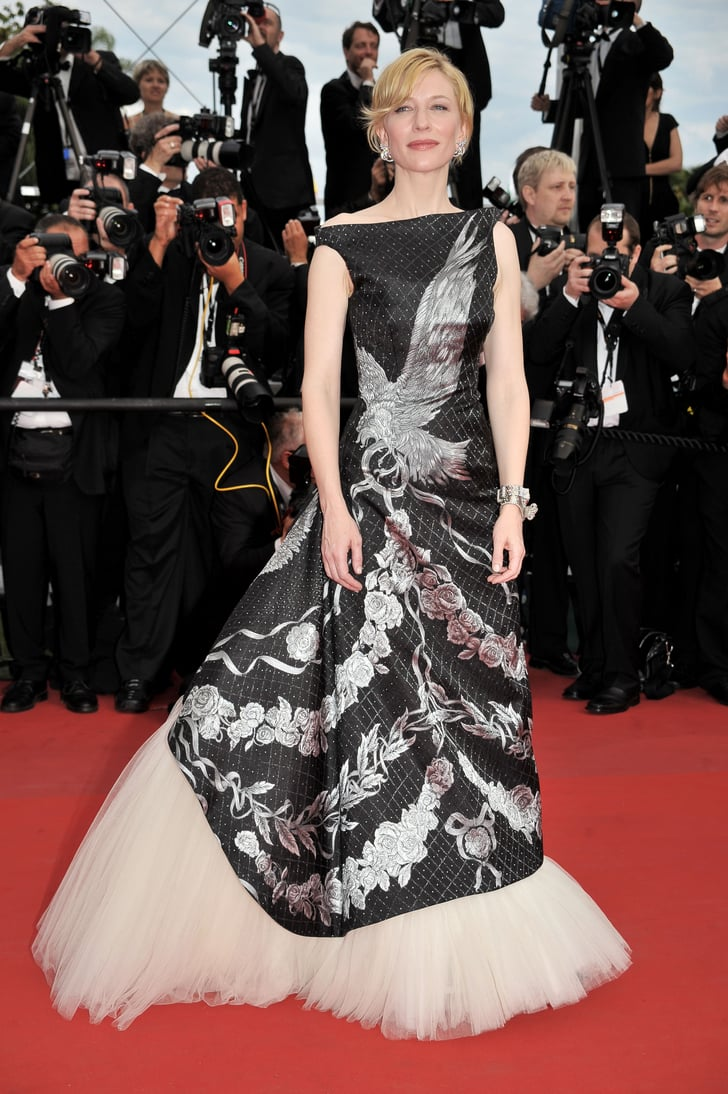 cate blanchett in alexander mcqueen at the 2010 cannes