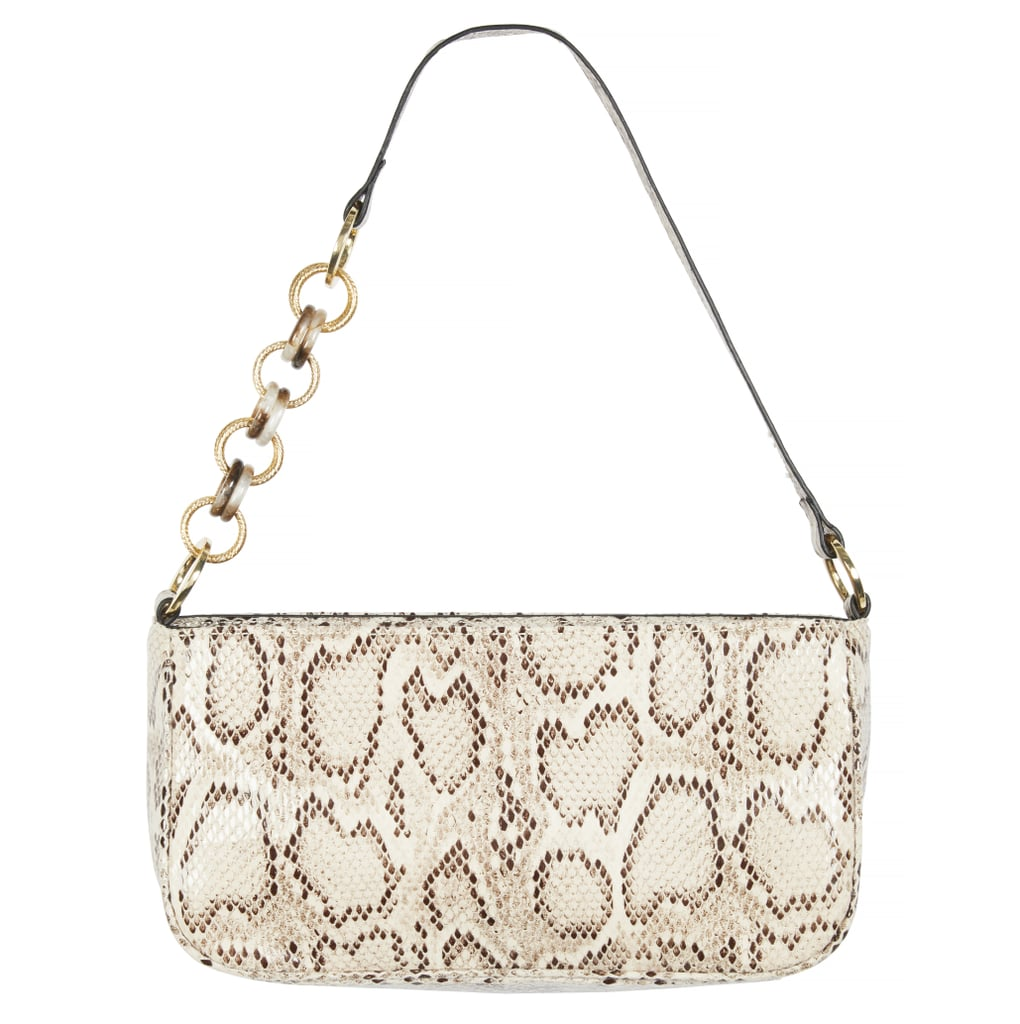 Topshop Spin Snake Print Mini Shoulder Bag
