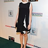 Michelle Williams showed off white-and-black chic in a little Givenchy shift at a pre-Academy Awards event.