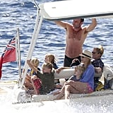 Liev Schreiber boated with Naomi Watts and their sons, Samuel and Kai Schreiber.