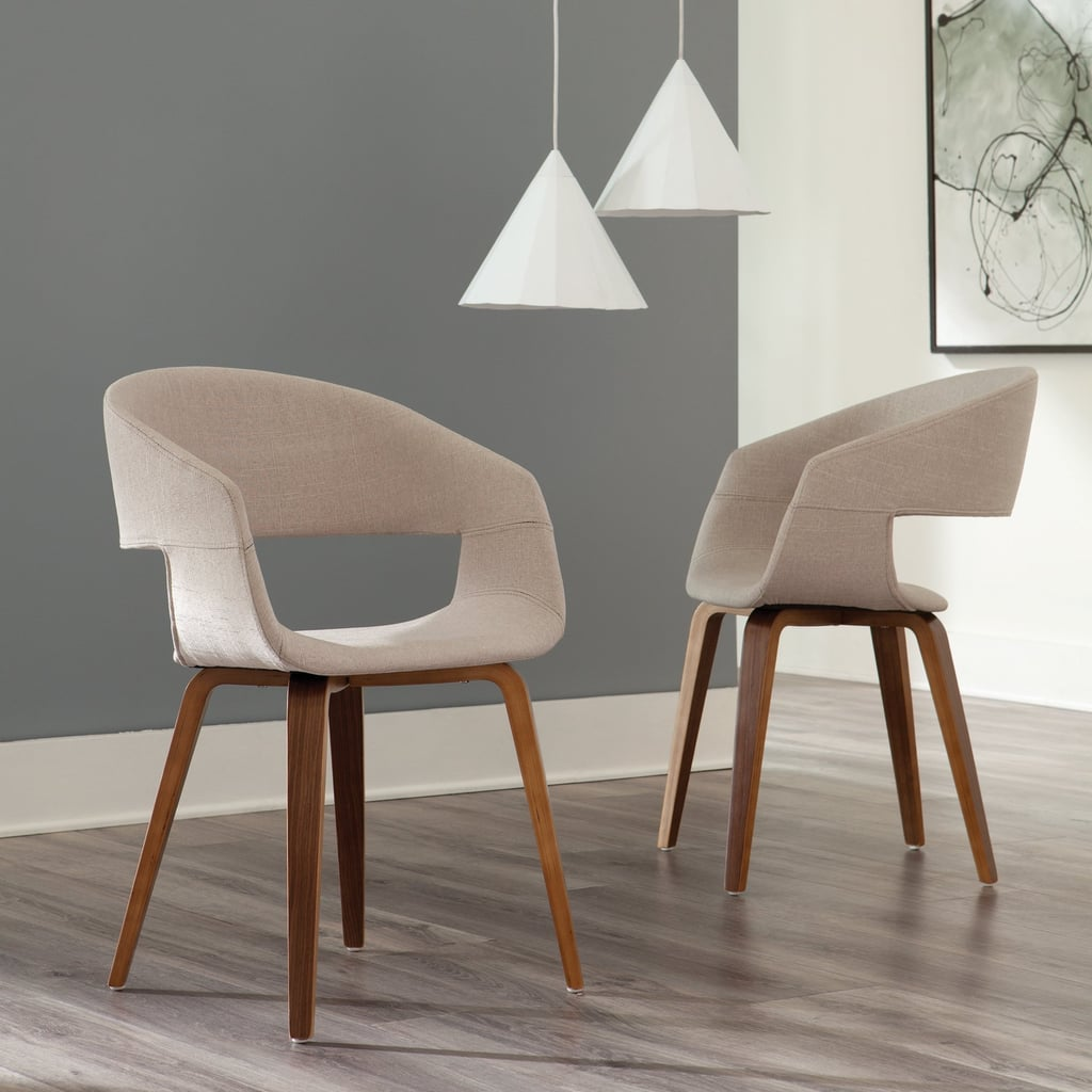 Mid-Century Modern Fabric Accent Chairs