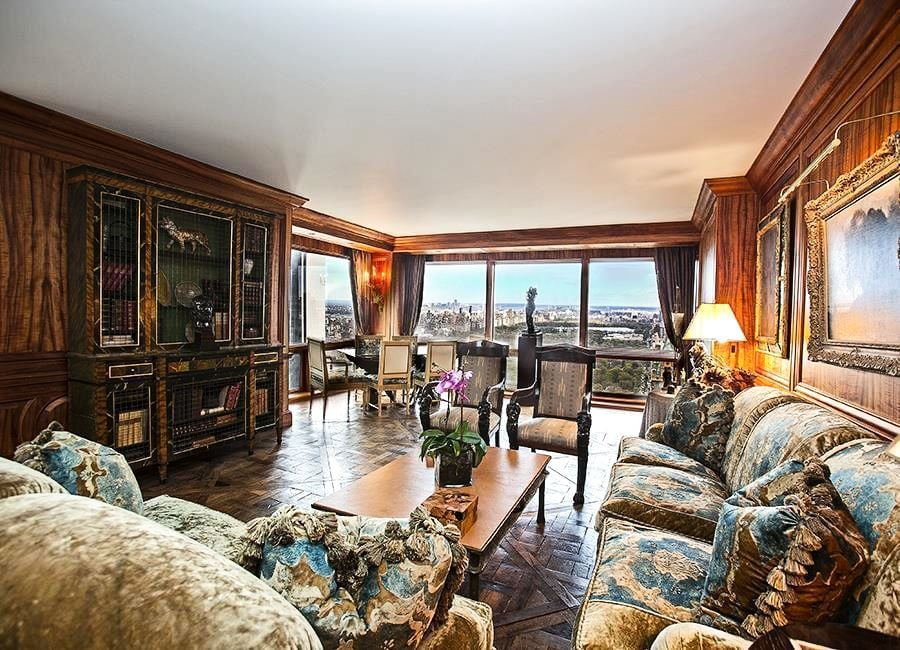 The Apartment Is Currently Decorated In A Baroque Rich Style