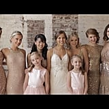 Go all out with sequinned bridesmaids dresses.