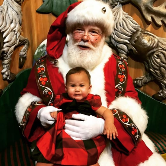 Chrissy Teigen's Photo of Luna Meeting Santa 2016