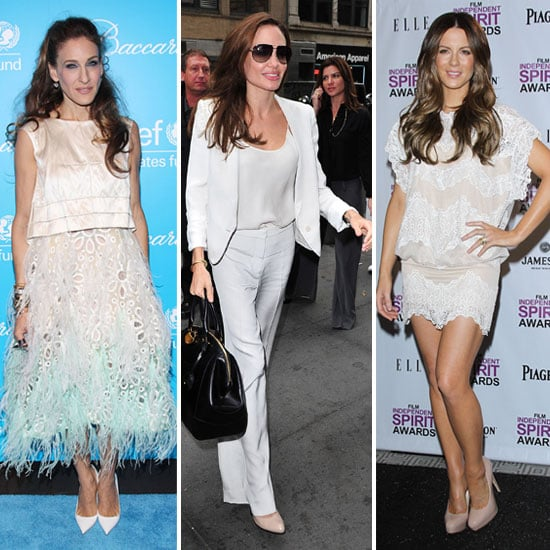 Celebrities Wearing White