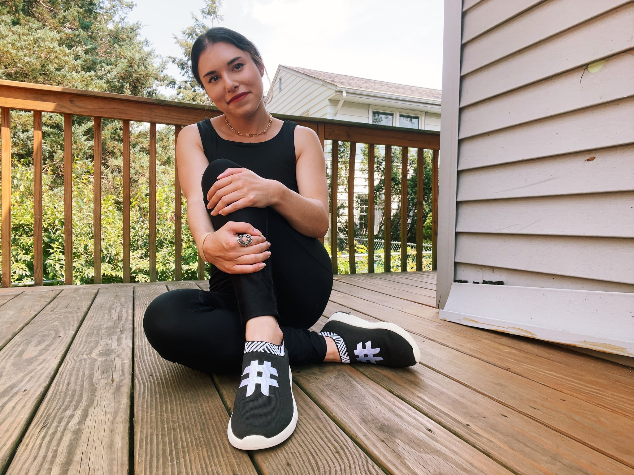 POPSUGAR Fitness assistant editor Sam Brodsky in Rens Original shoes