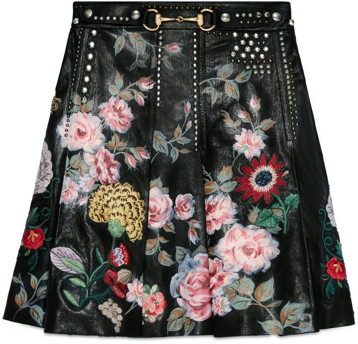 Gucci Hand-Painted Leather Skirt ($9,800)