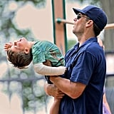 Tom Brady played around with Benjamin at the park.