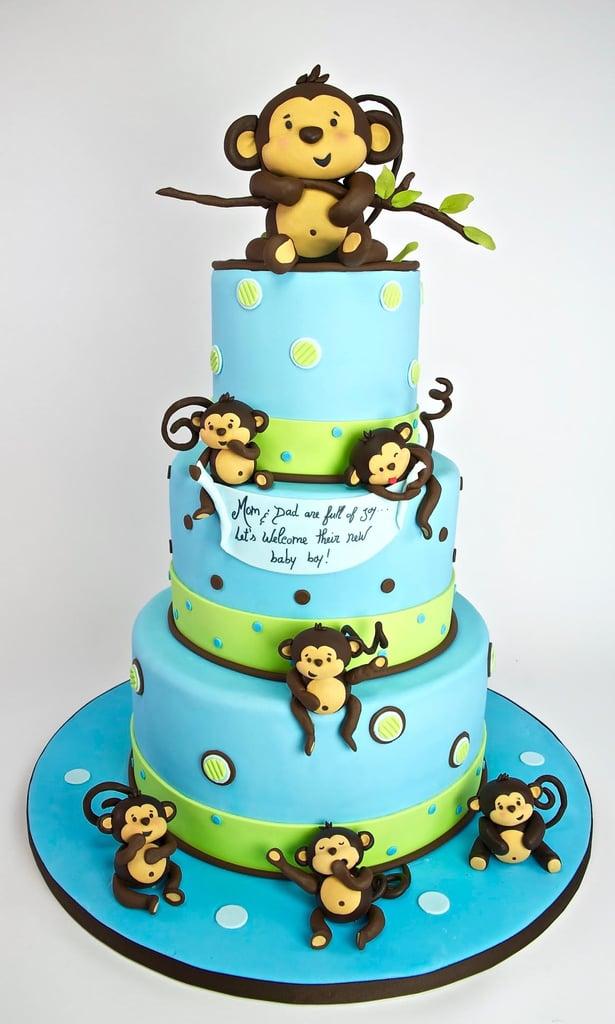 Playful Baby Monkeys Pretty Baby Shower Cake Ideas Popsugar Moms
