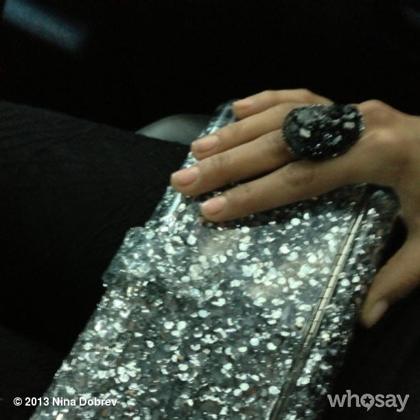 Nina Dobrev gave us a glimpse of her Kimberly McDonald ring and Edie Parker clutch. Source: Nina Dobrev on WhoSay
