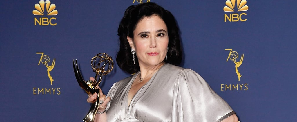 Alex Borstein Silver Dress at the 2018 Emmys