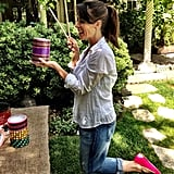 Soleil Moon Frye did some crafting for her kids. Source: Instagram user moonfrye