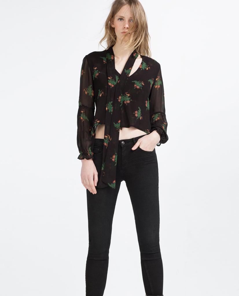 Zara Floral Print Blouse ($50)