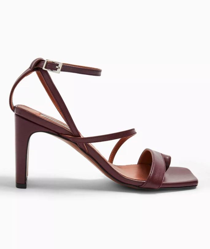 Topshop RIO Plum Toe Loop Sandals