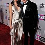 Justin Beiber wore a tuxedo for the American Music Awards with Selena Gomez.