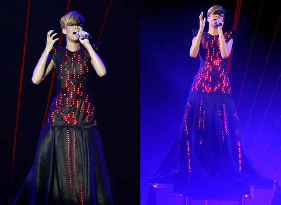 Photos of Rihanna on Stage in Manchester in LED Dress