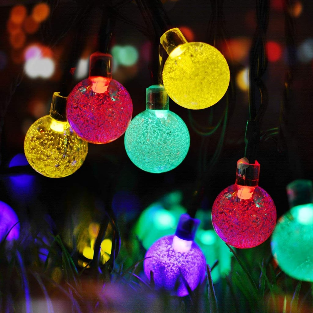 LED Solar String Multicolor Bubble Ball String Lights