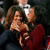The BFFs caught the giggles while sitting courtside at the 2007 NBA All-Star Game.