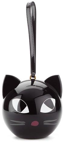 You'll love the sleek style of the Lulu Guinness Women's Kooky Cat Perspex Orb Clutch Black ($382).