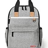 Skip Hop Duo Backpack in Grey Melange