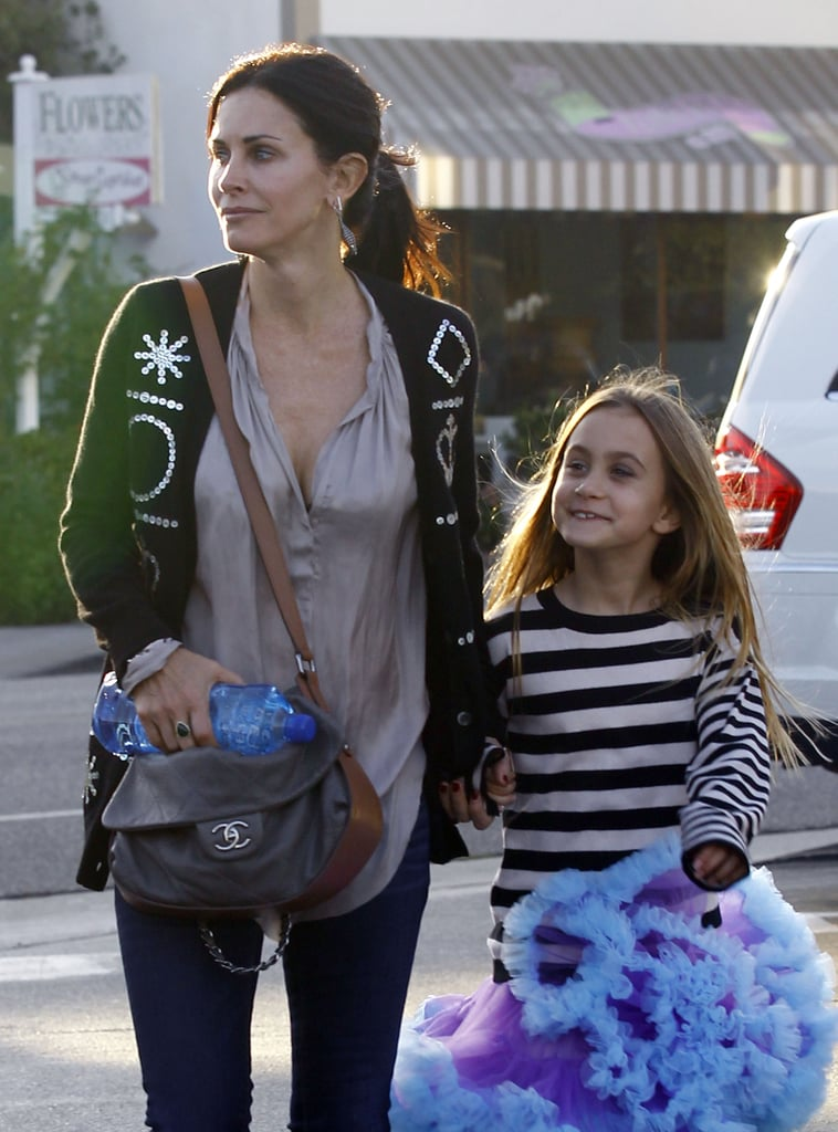 Courteney Cox kept Coco Arquette close.