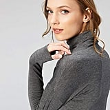 Daily Ritual Jersey Long-Sleeve Funnel-Neck Shirt