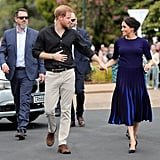 Meghan Met Her Bespoke Givenchy Skirt With a Matching Givenchy Sweater