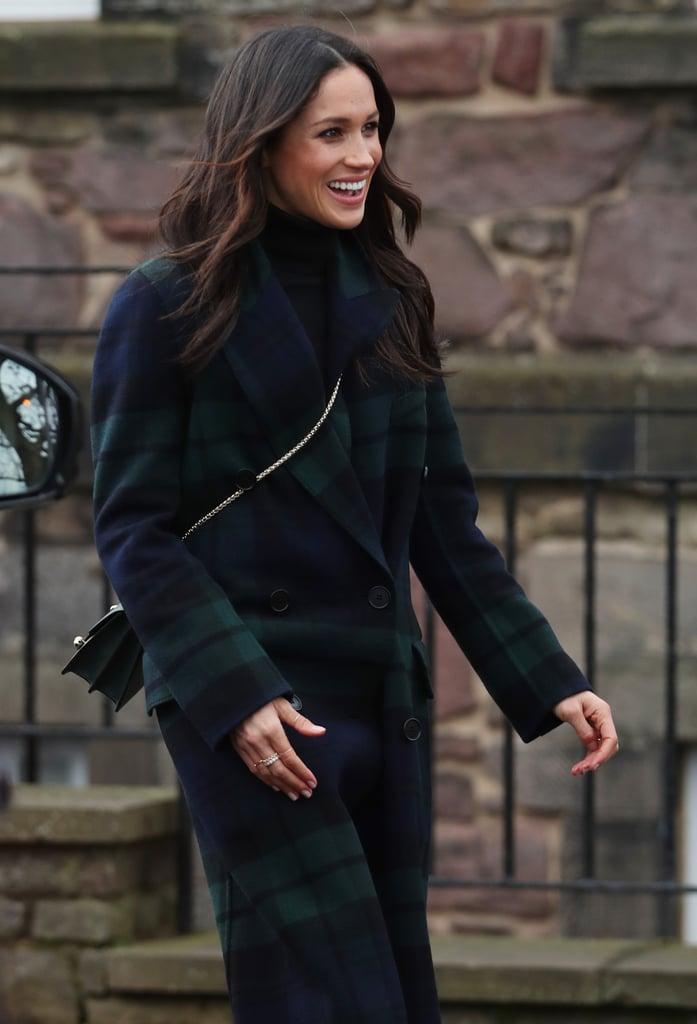 February: Meghan made a visit to Edinburgh Castle in Scotland.