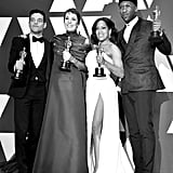 Pictured: Rami Malek, Olivia Colman, Regina King, and Mahershala Ali