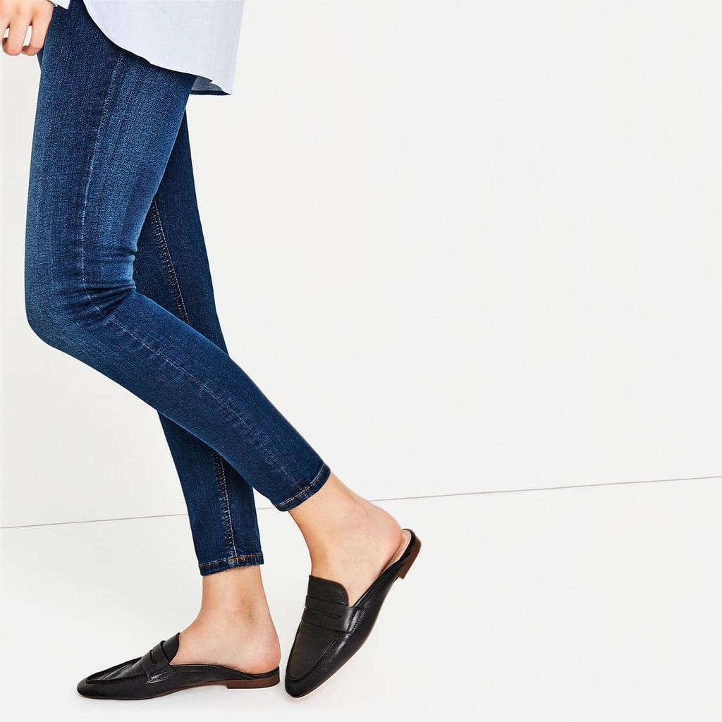 Zara Leather Mule Loafers ($60)