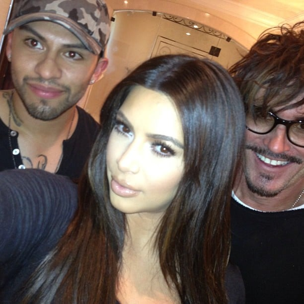 Kim Kardashian gave a shout out to her hair and makeup team. Source: Instagram user kimkardashian