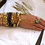 People really respond to the bone pieces: it adds to whatever [pieces] may already be existing, like a colored string or a bracelet or any studs that you might already have. It gives it sort of a layer of something natural and something that isn't so geometric-looking.  I want [my pieces] to have an element of edge, but on a clean note. I want it to look pretty, but it still can be sharp. They're really meant to be layered and worn with everything, you know – dress 'em up, dress 'em down. — Jennifer Fisher